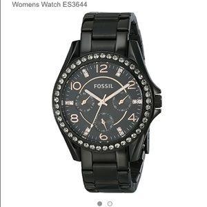NWT Fossil Riley crystal bezel Watch